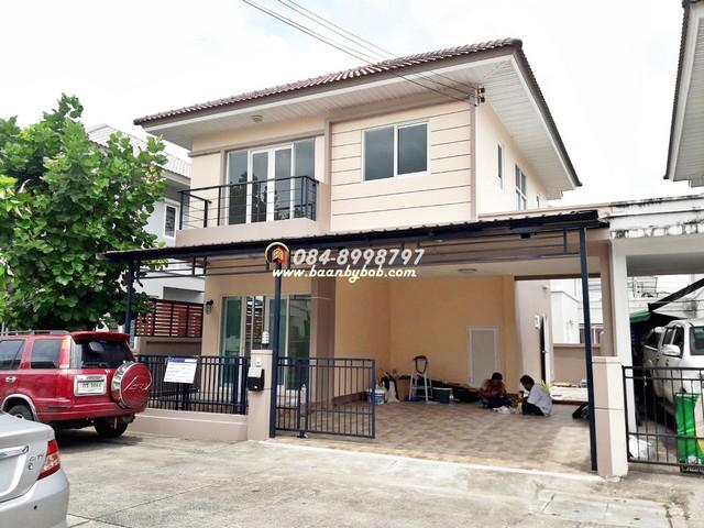 ขายบ้าน เดอะวิลล่า ( The villa ) ท่าอิฐ 35.7 ตรว. บ้านปรับปรุงใหม่ ต่อเติม พร้อมอยู่