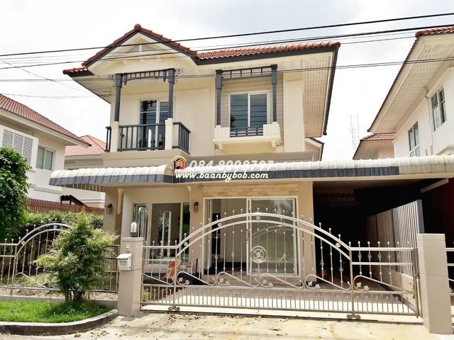 ขาย บ้าน เดอะวิลล่า ( The villa ) ท่าอิฐ บ้านอยู่หน้าทะเลสาบ วิวสวนส่วนตัว ต่อเติมห้องชั้นล่าง