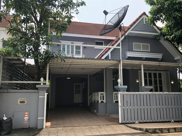 ขายบ้านหมู่บ้านนันทวัน บางใหญ่  พื้นที่68 ตรว. หลังริม บ้านสวยสภาพดี