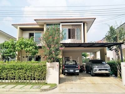 ขายบ้านเดี่ยว 2 ชั้น ม.บุราสิริ ท่าข้าม-พระราม2 เนื้อที่ 55.1 ตร.ว   ต่อหลังคาโรงรถ ราคา 5.9 ล้าน