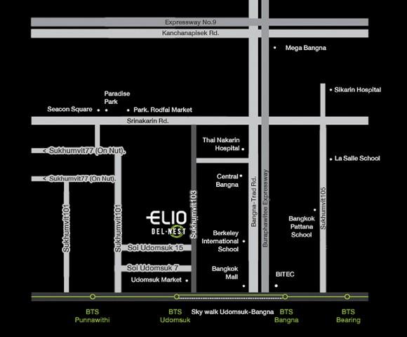 ขายคอนโดฯอุดมสุข Elio Del Nest สุขุมวิท103 Bts อุดมสุข 31ตรม.ชั้น10 เพียง 3.18 ลบ.แต่งครบ ราคาสุด