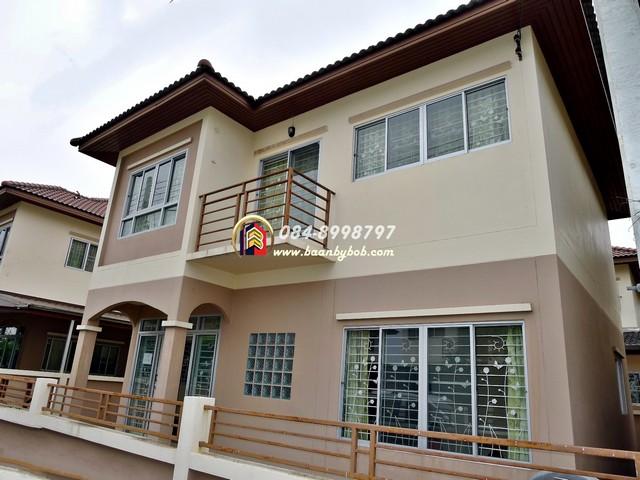 ขาย บ้าน ณิชากร 2 (Nichakorn 2) 39 ตร.วา สภาพใหม่ มือ1 ไม่เคยเข้าอยู่ มีห้องนอนชั้นล่าง พุทธมณฑลสาย4