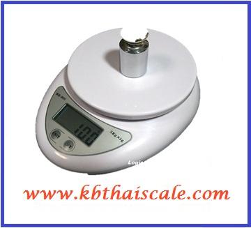เครื่องชั่งดิจิตอล ตาชั่งดิจิตอล เครื่องชั่งอาหาร 5Kg ความละเอียด 1g Digital Mini Kitchen Scale รุ่น WH-B05