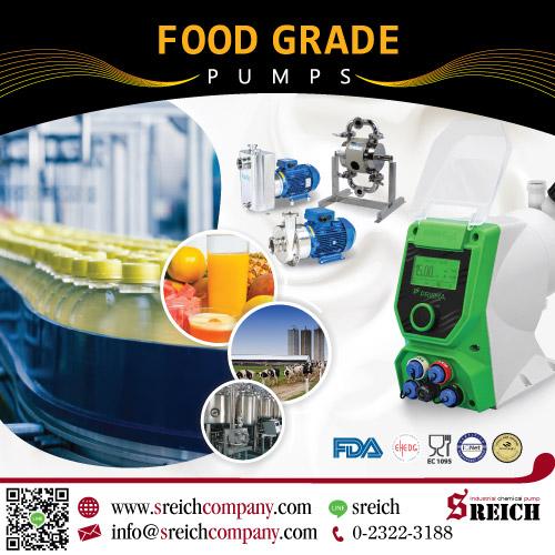 ปั๊มสำหรับการเติมสารปรุงแต่ง สี/กลิ่น/รสชาต ในการผลิตอาหาร