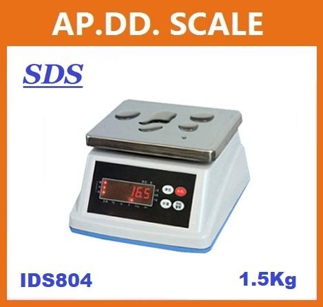 เครื่องชั่งกันน้ำ 1.5Kg-30kg ยี่ห้อ SDS รุ่น IDS804 ราคาถูก